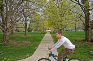 Biking to Class CC License by michaelsarver
